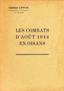 Les Combats d'Août 1944 en Oisans
